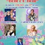 "Spectacol ""Dor cu dor"" in data de 13.06.2021 in sala de spectacole ""Florin Piersic"""